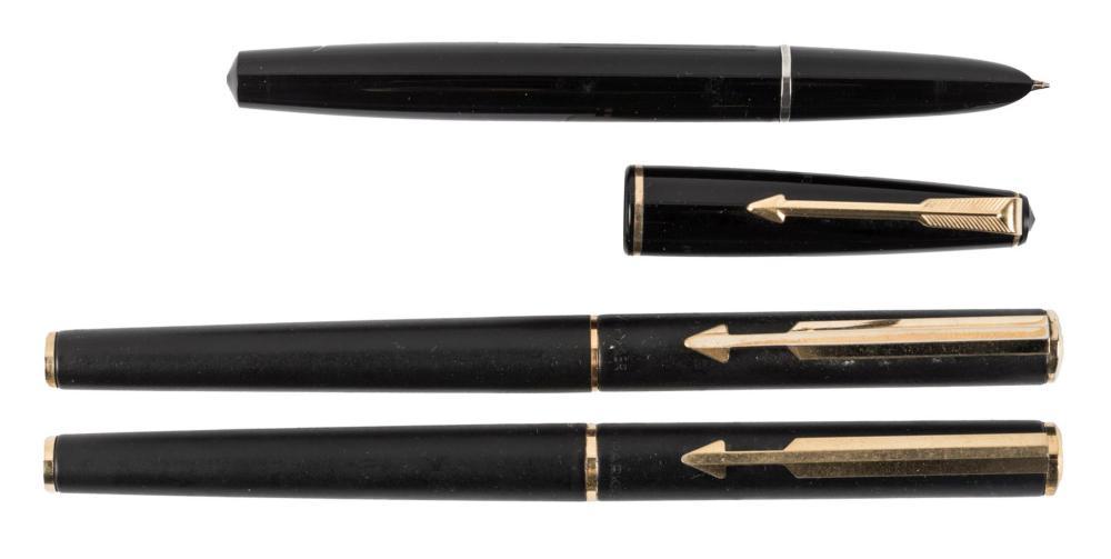 PARKER Arrow Matte Black Fountain Pen & Rollerball, No. 17 Lady FP