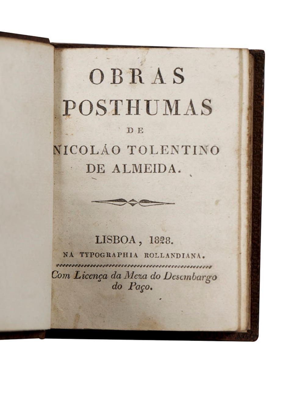 Almeida, N.Tolentino de.Obras Posthumas.1vol.enc.