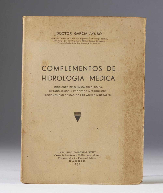 Ayuso.Complementos de HIdrologia Medica..1 vol. br