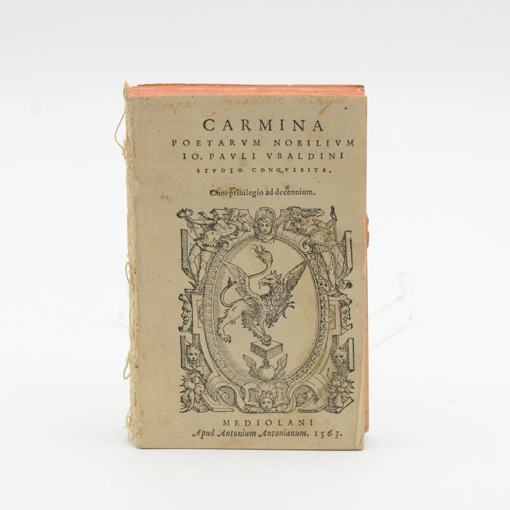 CARMINA POETARUM NOBILIUM...1 vol. br.