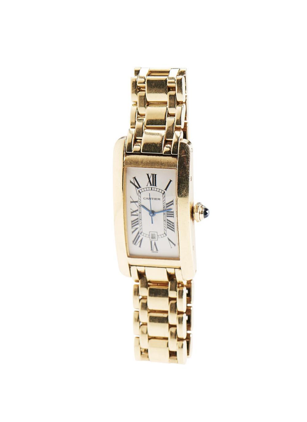 Relógio de pulso Cartier em ouro 750%, P. 115,2g