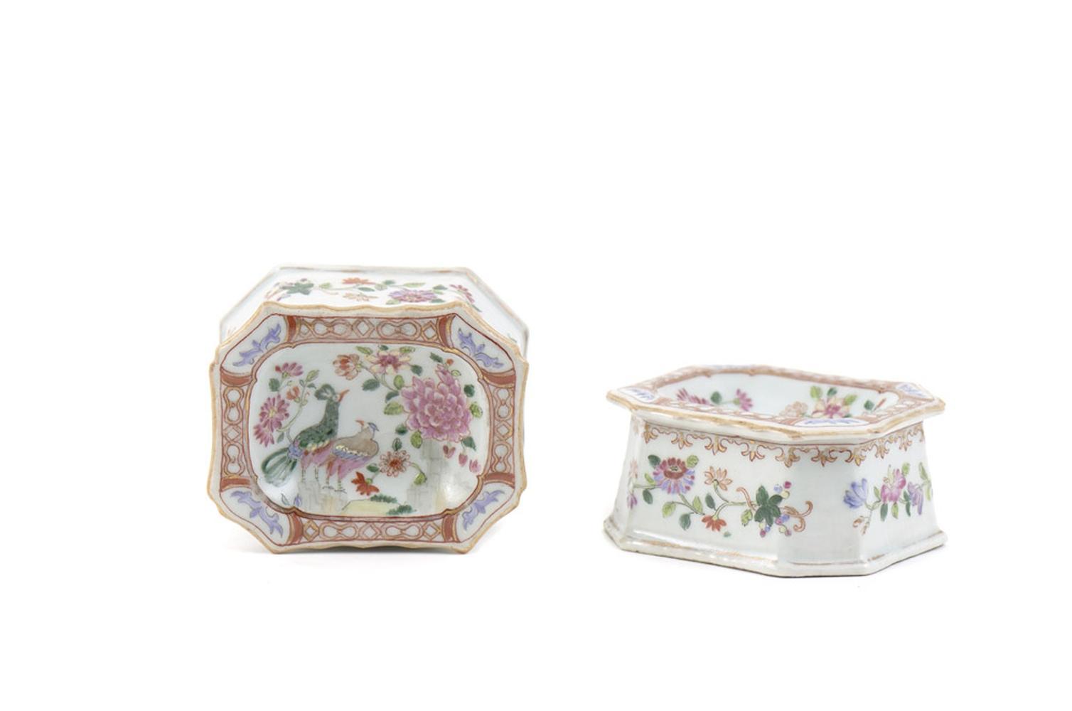 Par de saleiros em porcelana chinesa (2)