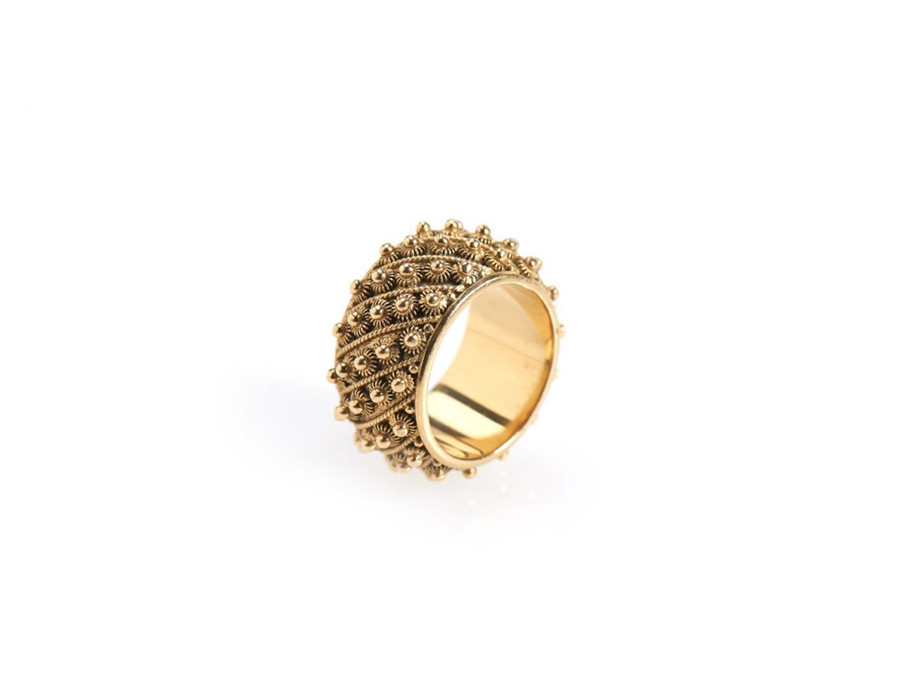 Aliança caramujos em ouro 800%, P. 11,1g
