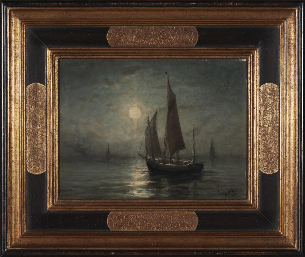 Eugene WOLTERS, Óleo s/ madeira, 24,5 x 32,5 cm.