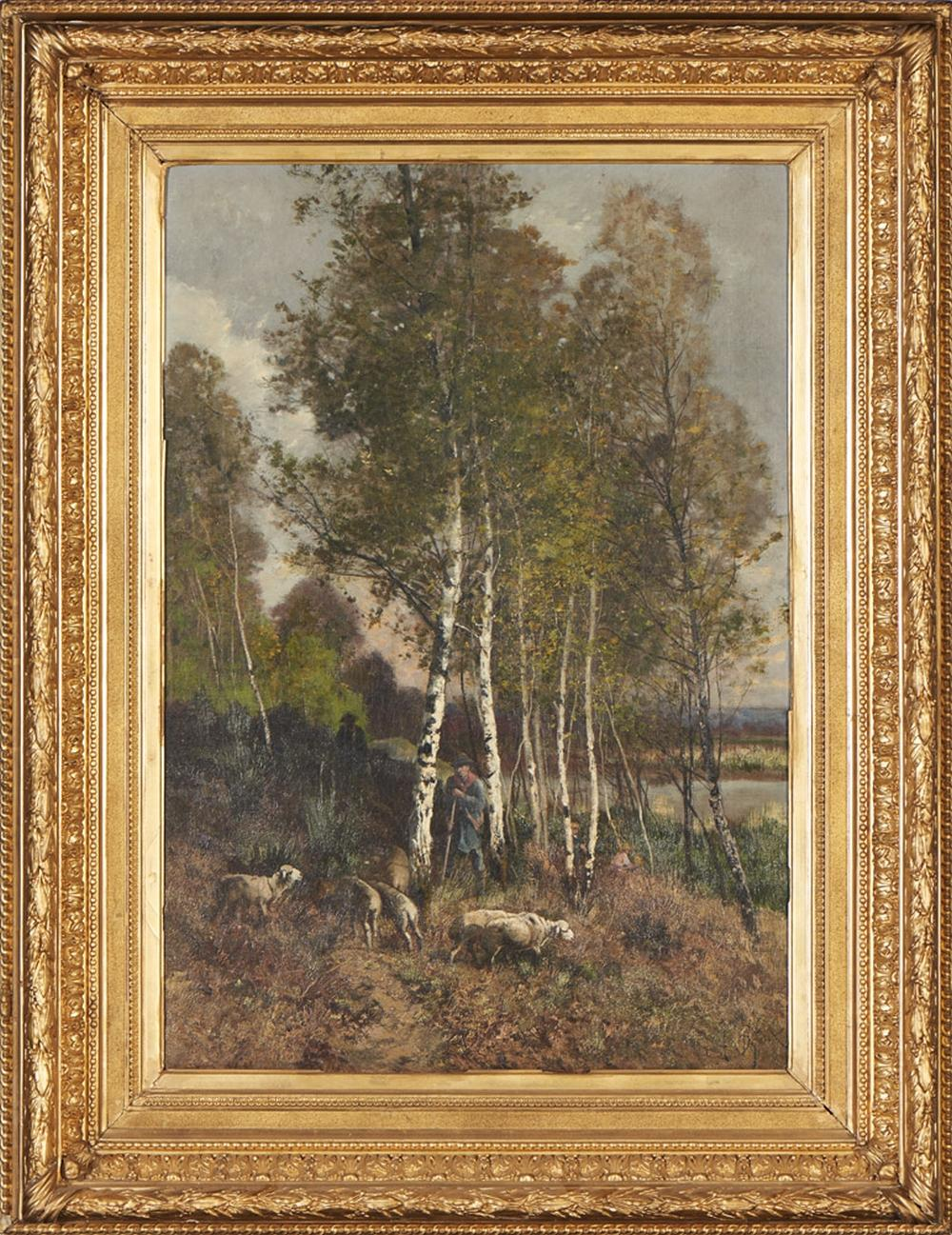 DEFAUX, Óleo sobre tela, 84 x 58 cm.