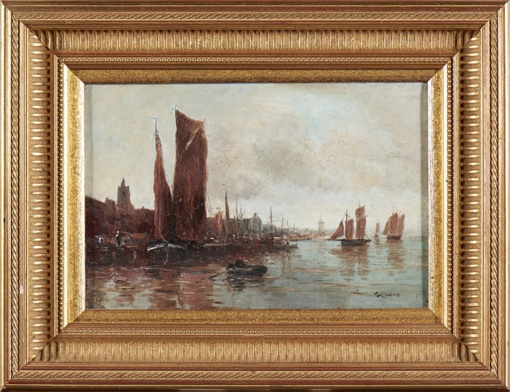 Gerard ROUX, Óleo sobre tela, 21 x 32 cm.