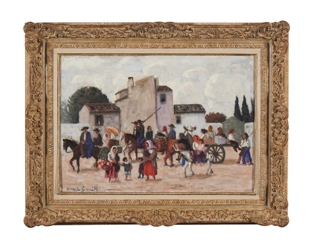 FRANCIS SMITH, Óleo sobre tela, 45,5 x 64,5 cm.
