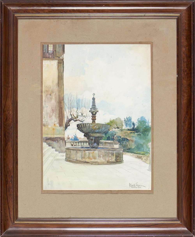 ALBERTO DE SOUSA, Aguarela sobre papel, 50 x 37 cm