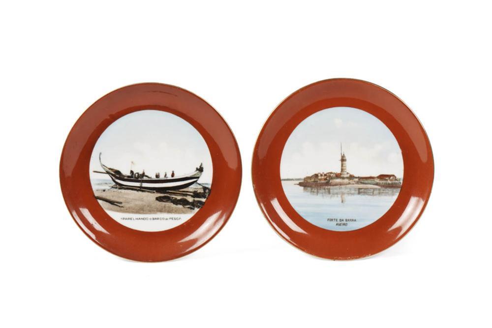 Conjunto de 2 pratos em porcelana da Vista Alegre