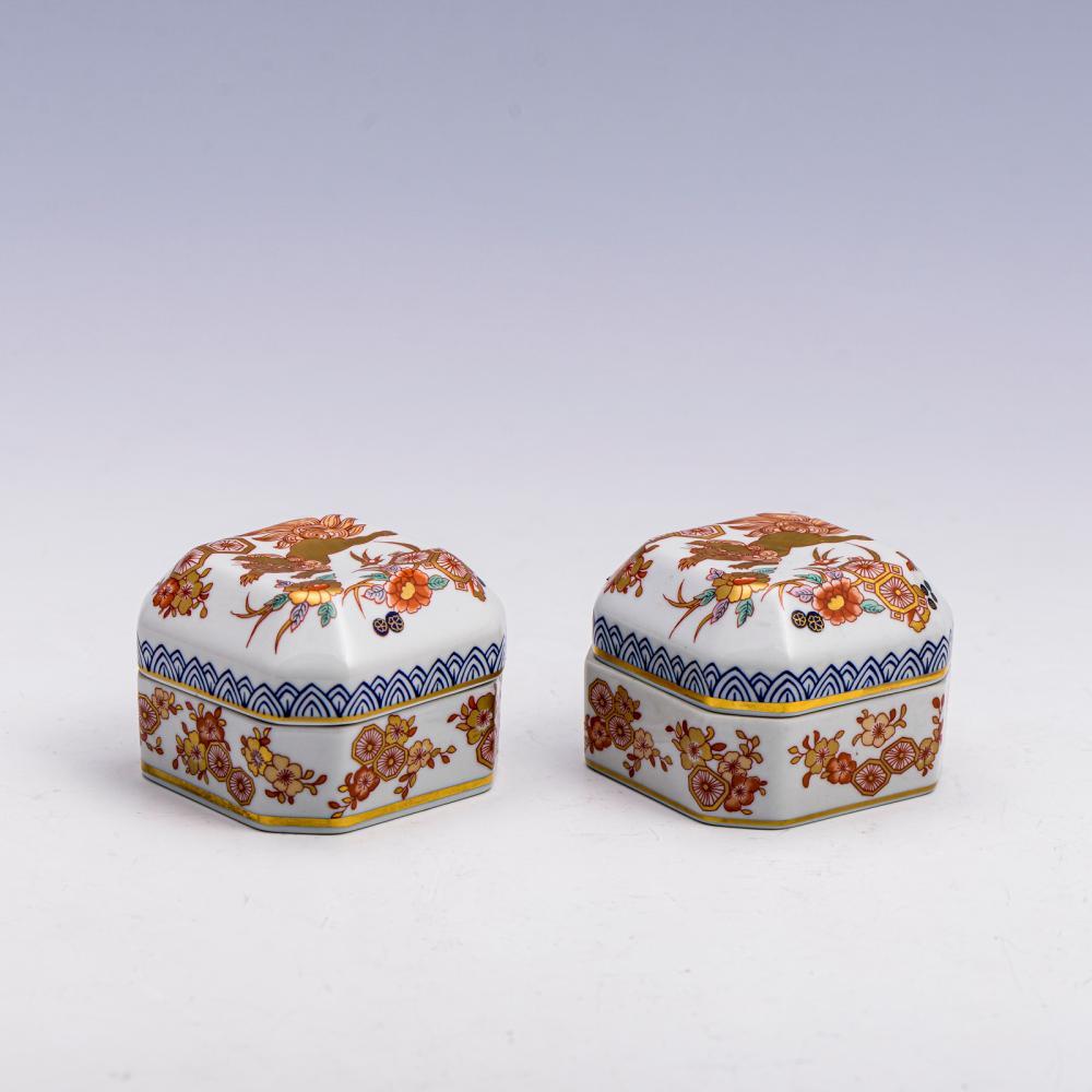 Par de caixas em porcelana da Vista Alegre (2)