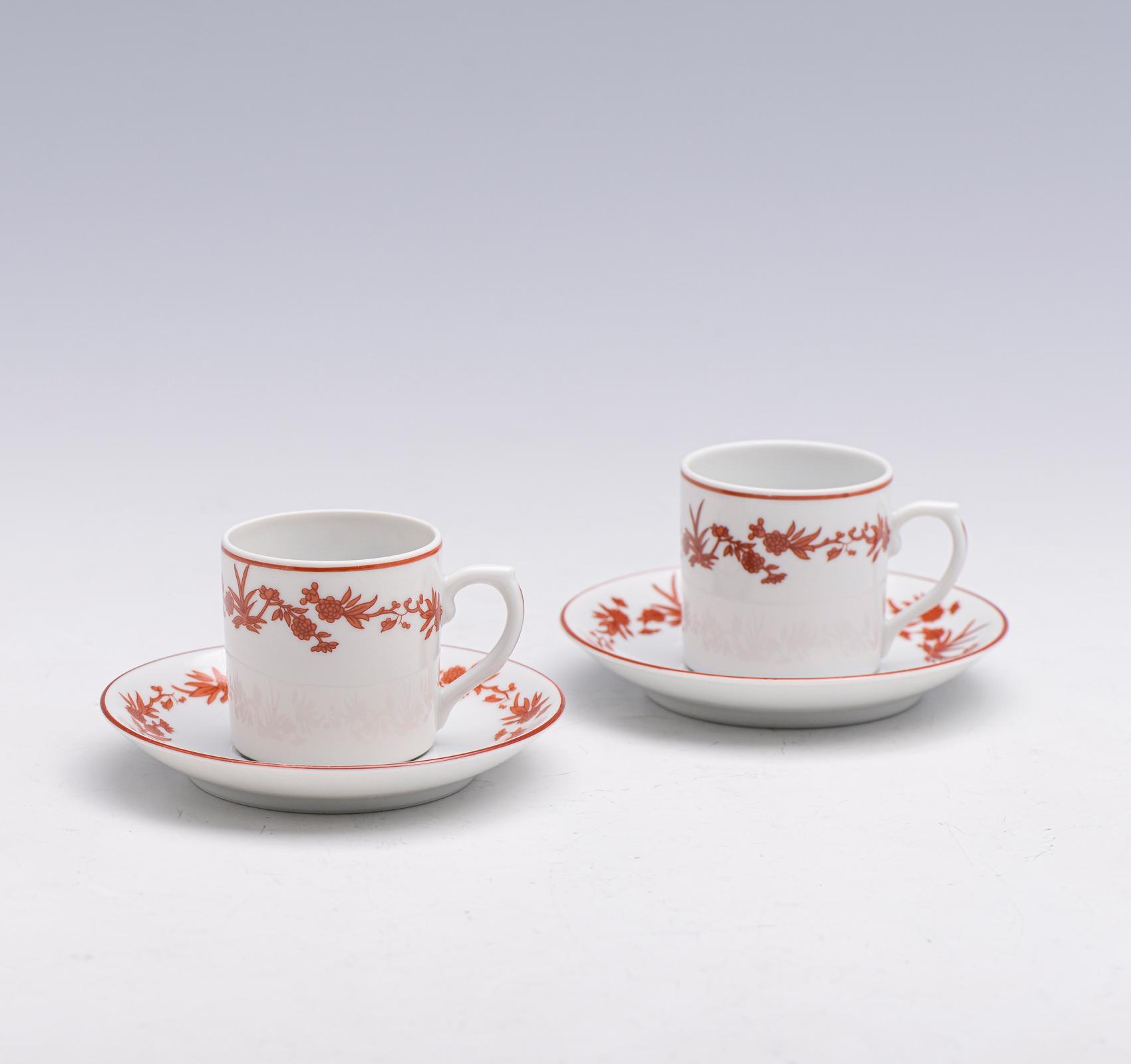 12 xícaras de café c/pires, porcelana V. A. (24)
