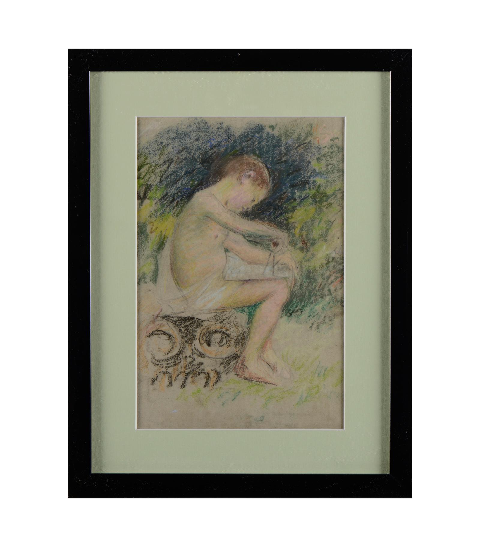 SOUSA PINTO, Pastel sobre papel, 31 x 24 cm.