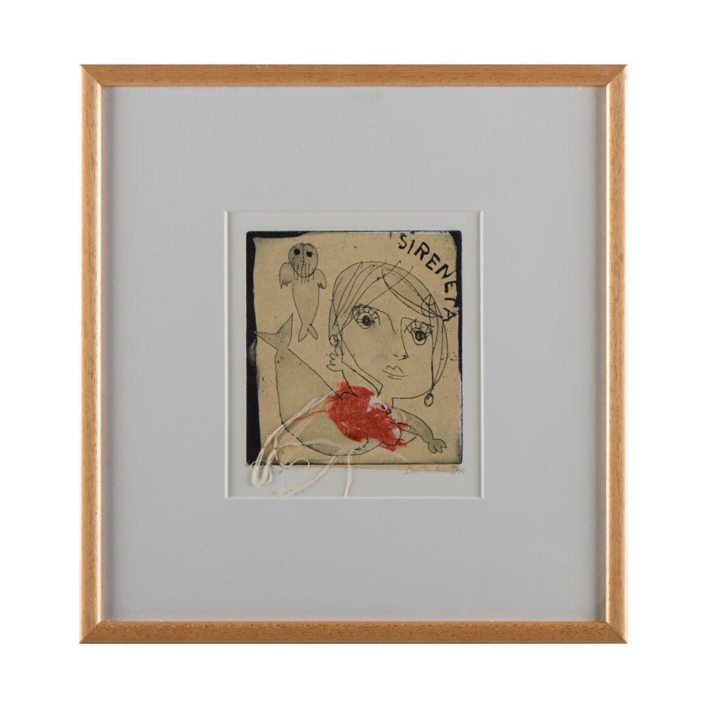 BARTOLOMEU CID, Gravura s/papel, 16 x 15 cm.