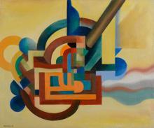 MONIZ PEREIRA, Óleo sobre tela, 55 x 65 cm.
