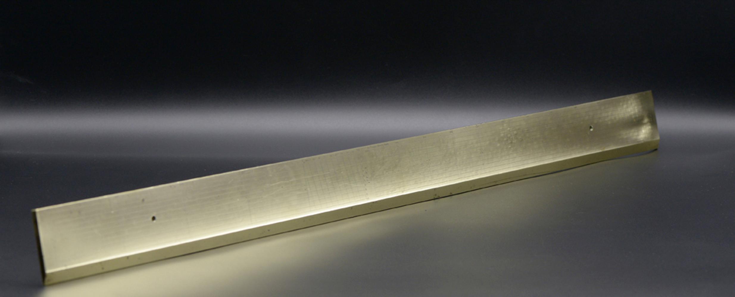 "Yellow metal ruler ""Ludwig Tesdorpf"""