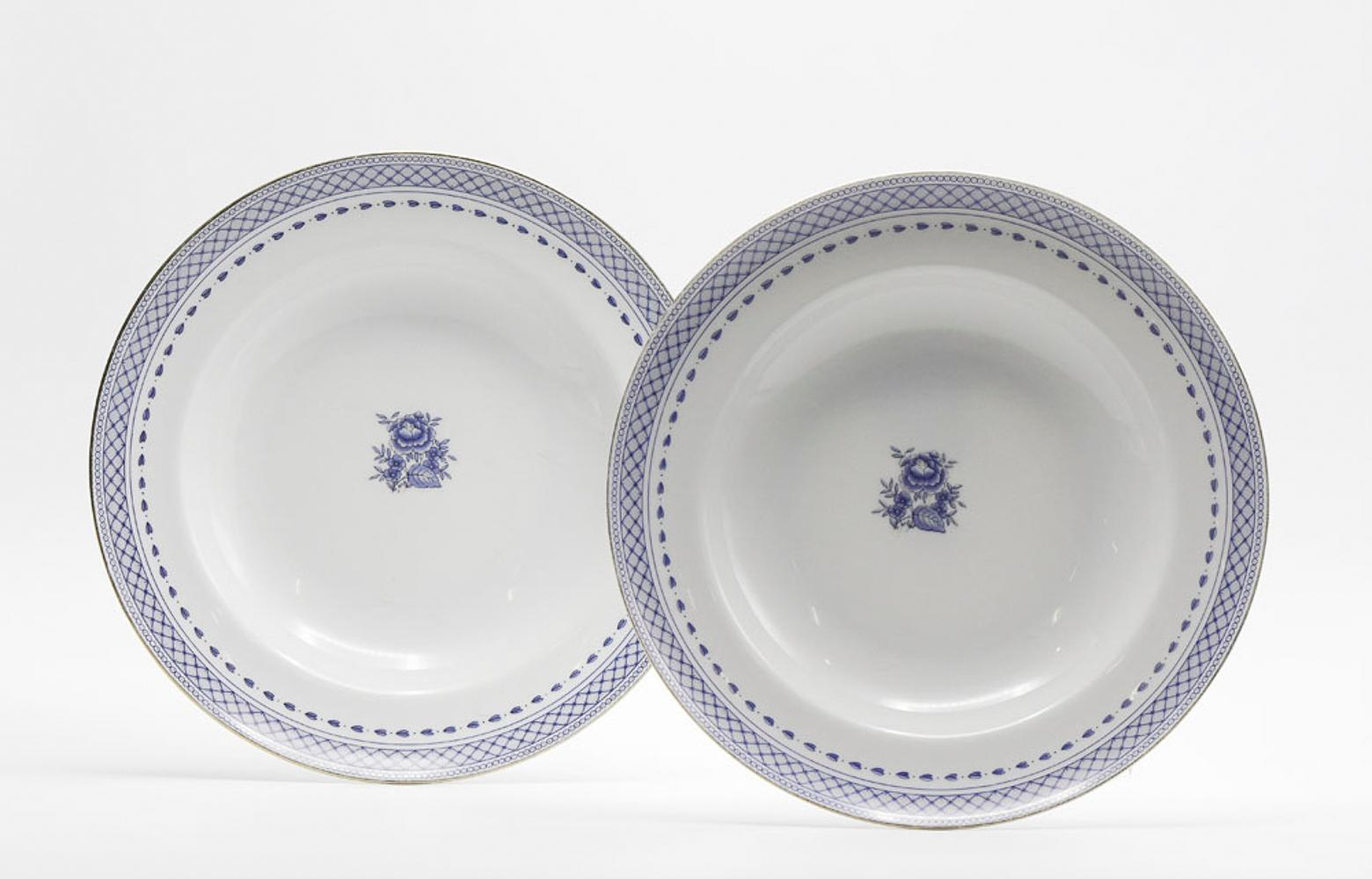 Pair of Vista Alegre porcelain soup plates