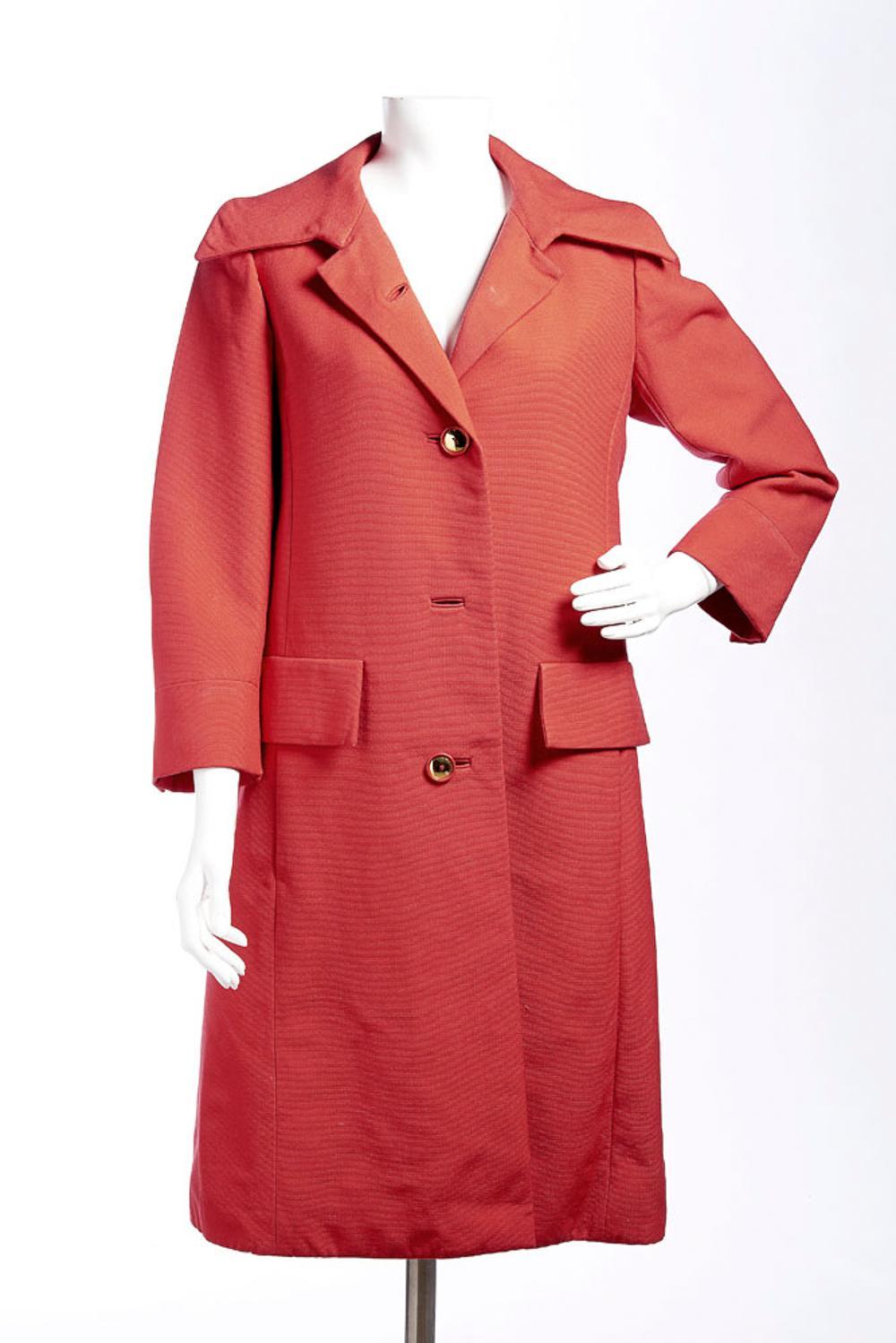 Guy Laroche, red women's long coat