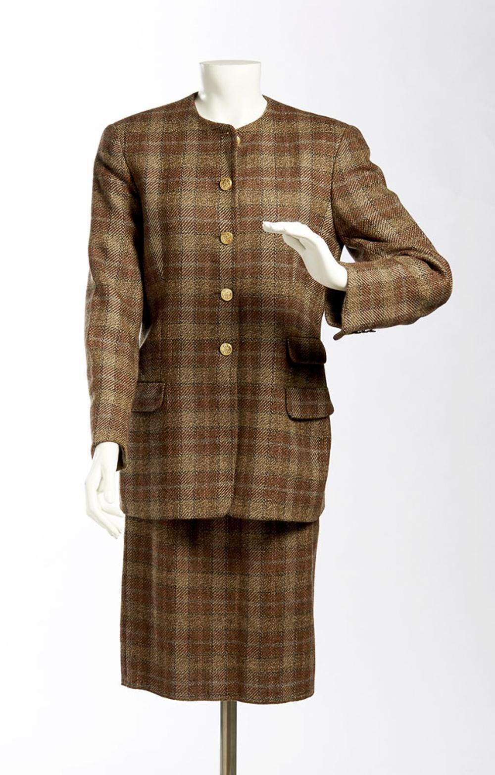 Salvatore Ferragamo, coat and skirt