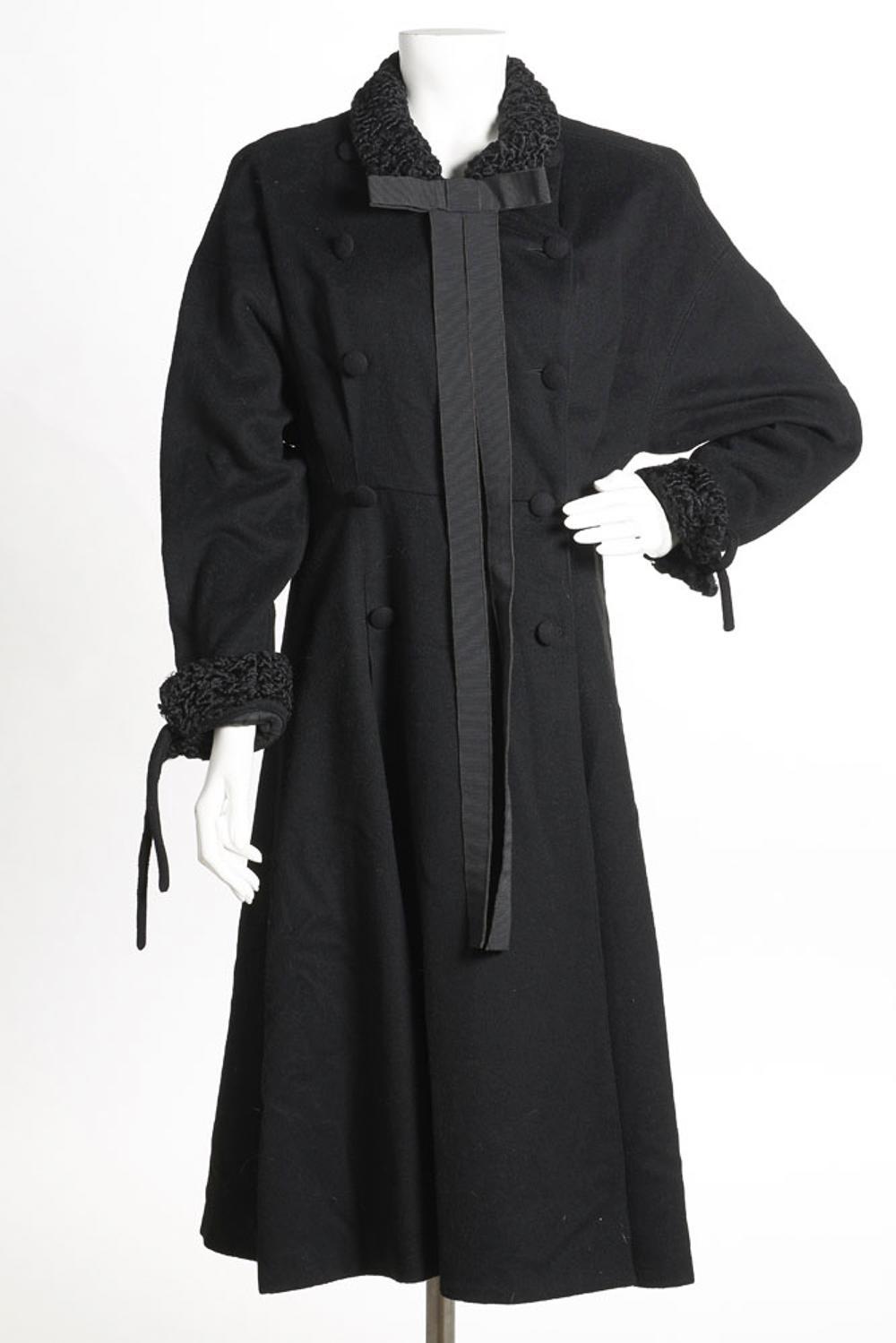 """Karl Lagerfeld"" black farm coat"