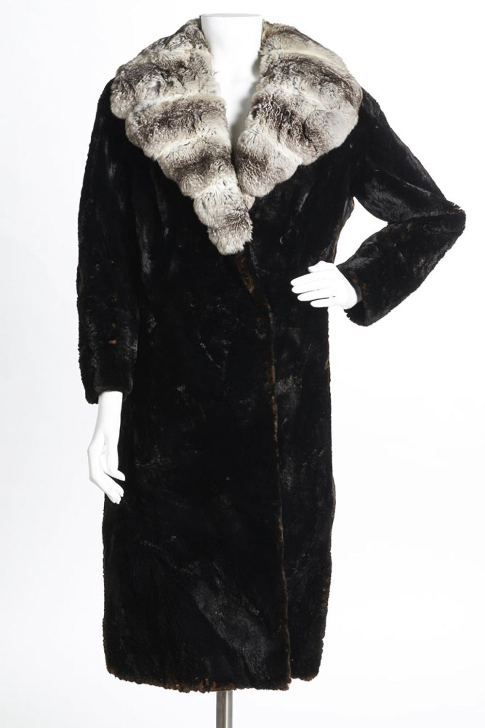 """""""Chiberta"""" long coat in brown fur"""
