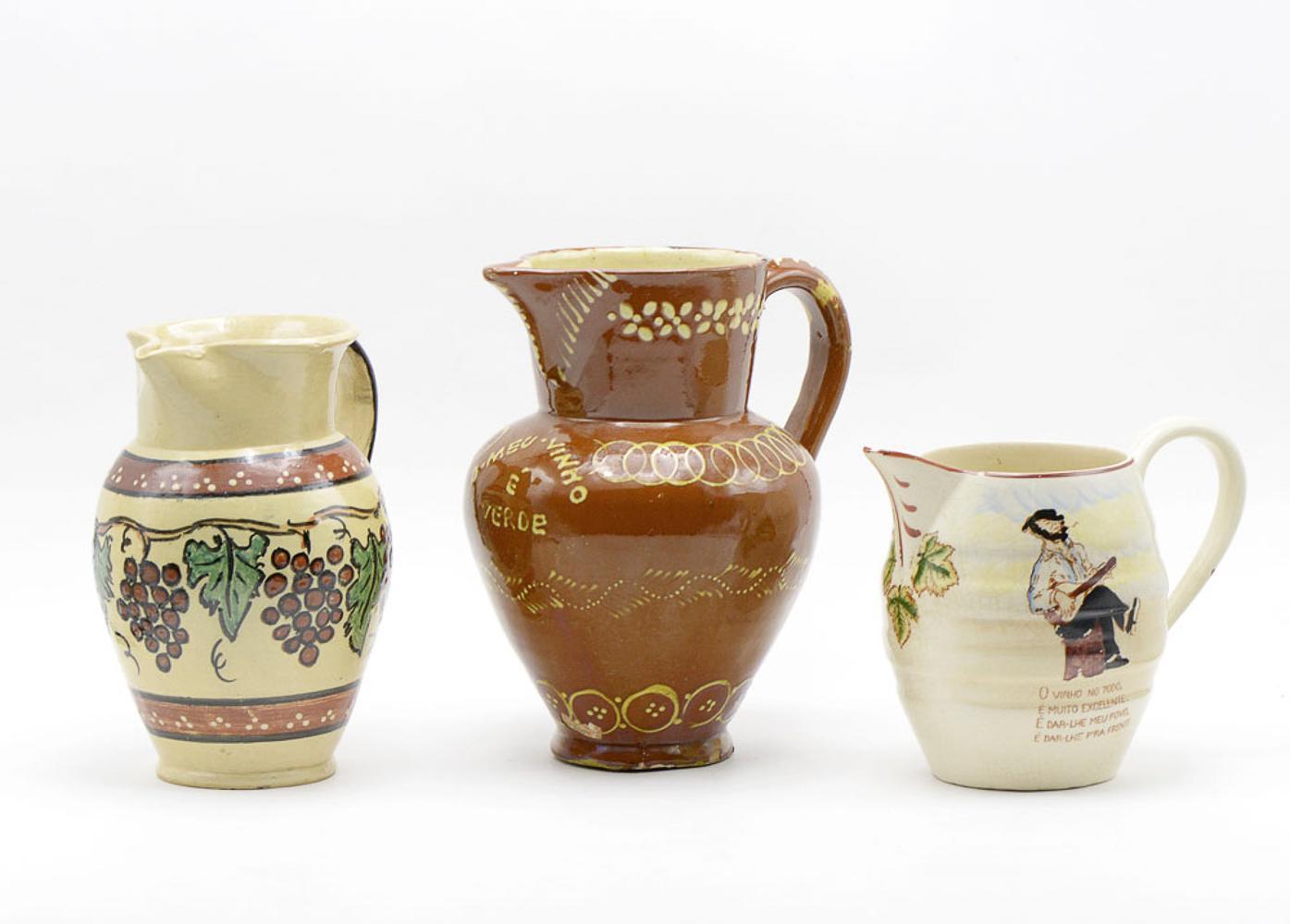 Lot of three ceramic jugs