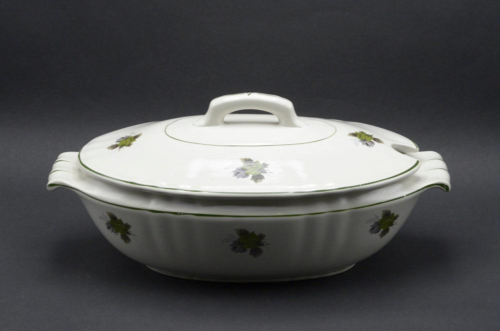 Portuguese faience terrine with lid