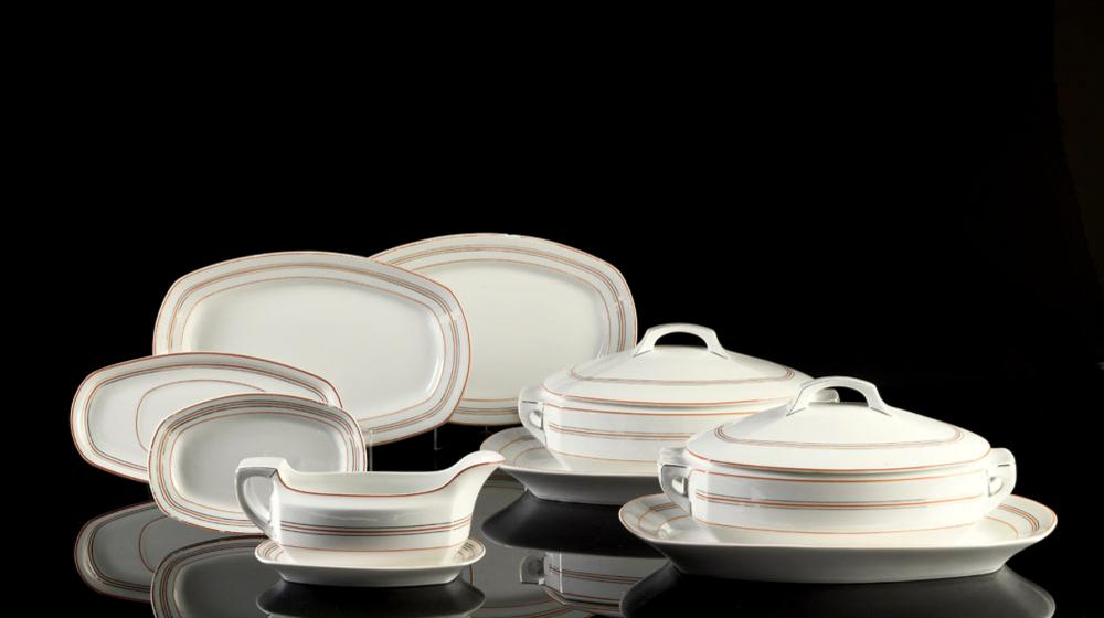 Conj. of 10 pieces in Coimbra porcelain