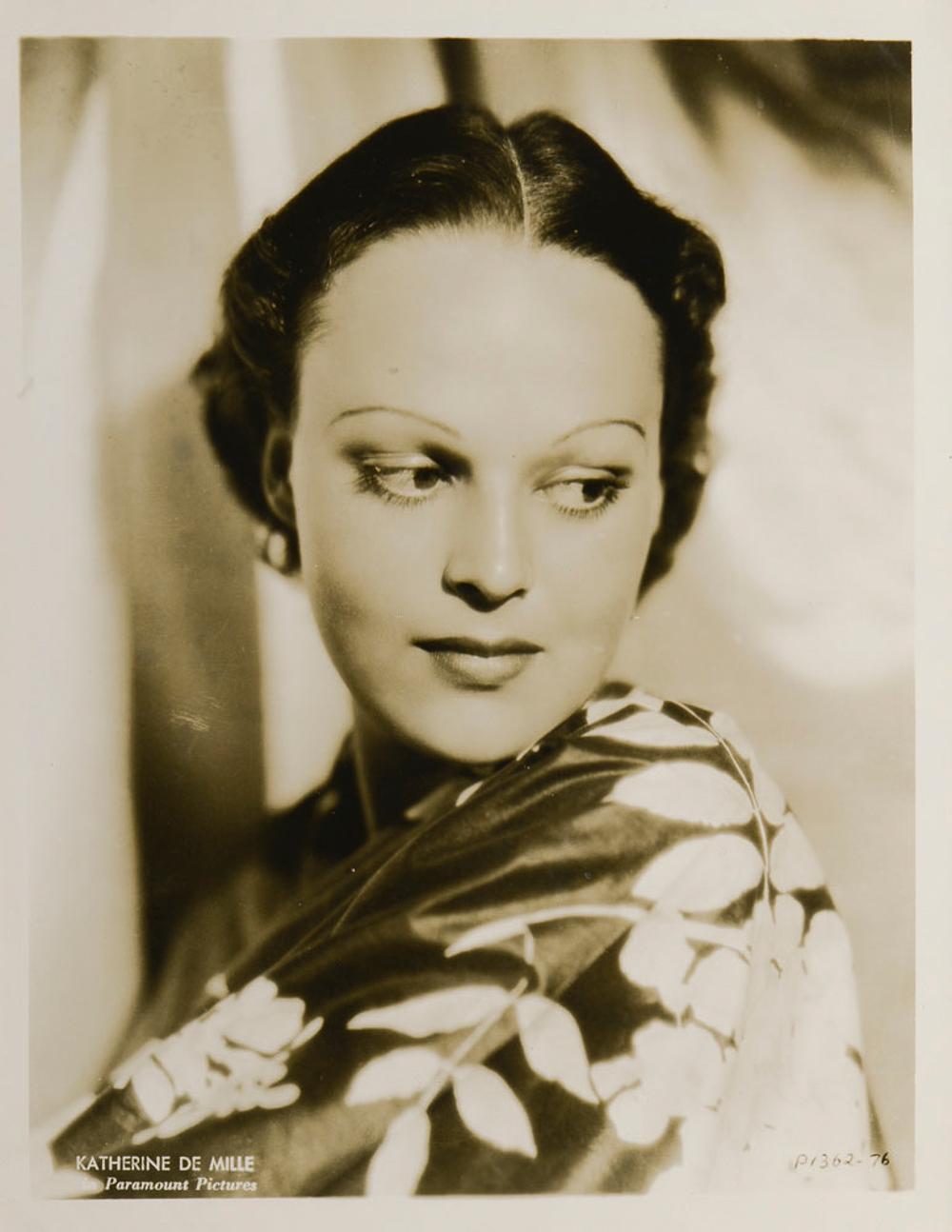 Katherine de Mille portrait, photograph, 26x20cm