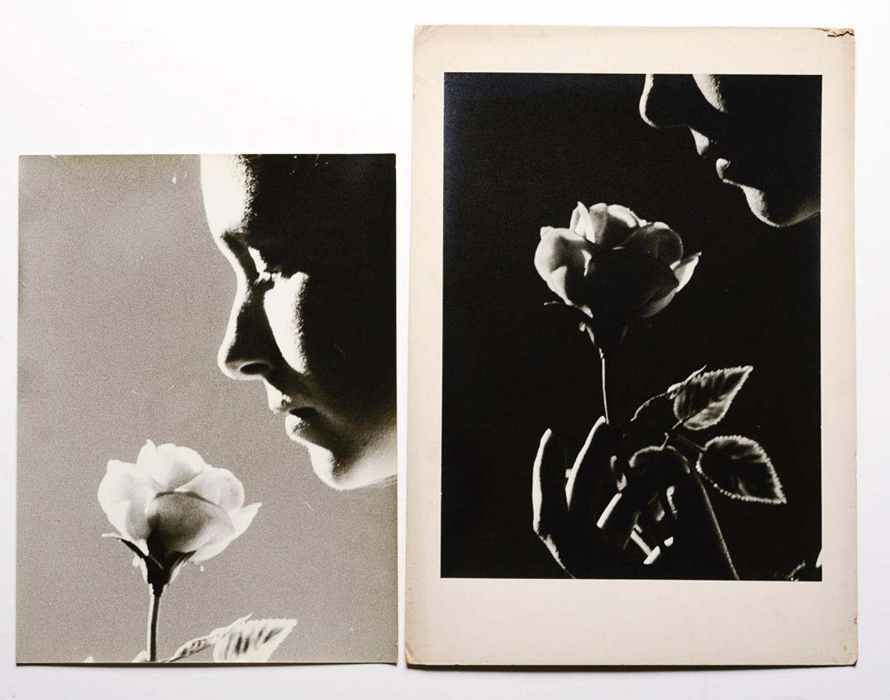 2 black and white photographs, 50 x 35.5 cm.