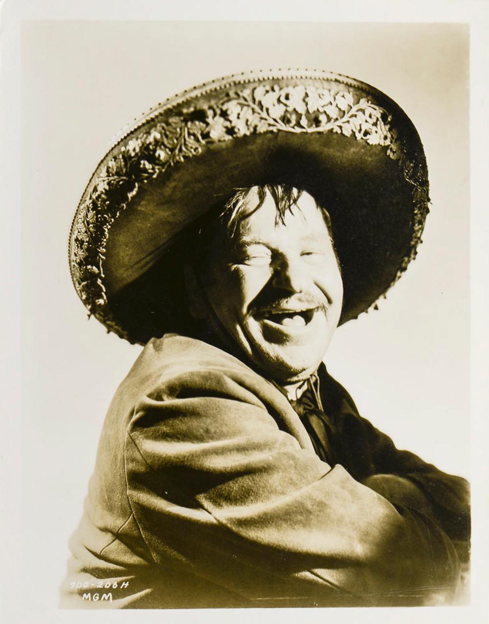 Wallace Beery portrait, photograph, 26 x 20 cm.