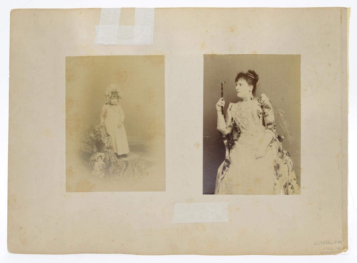 3 sepia photographs, 31 x 42 cm. (total)