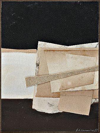 Madeville, mista c/colagens, 19,5x14,5cm.