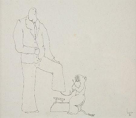 Mário Botas, Desenho a tinta s/papel MÁRIO BOTAS
