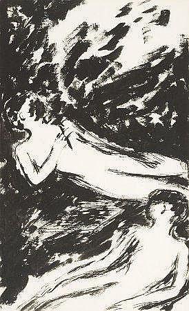 Ilda David, Guache s/ papel, 24,5 x 15 cm ILDA