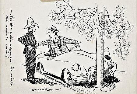 Stuart, 'Não tive culpa...', desenho, 13,5x19,5cm