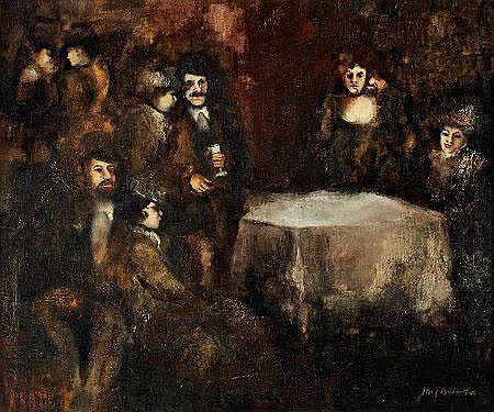 Abel Manta, Interior, óleo s/tela, 51 x 62 cm.