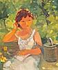Maria Fernanda Amado, 'No Jardim', óleo, 30,5x26cm, Maria Fernanda Cabral Amado, Click for value