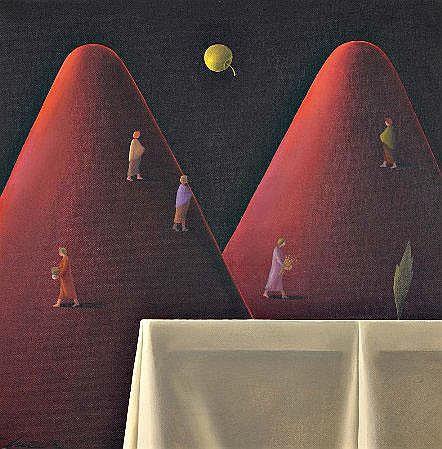 Alfredo Luz, Óleo sobre platex, D:38 x 38 cm.