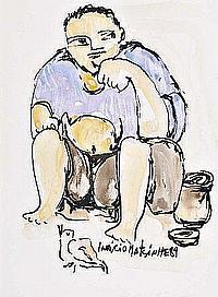 Inácio Matsinhé, téc.mista s/papel, 29x21 cm