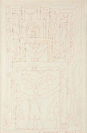 José Escada, 'Le Vernisage', desenho, 46,5x31 cm