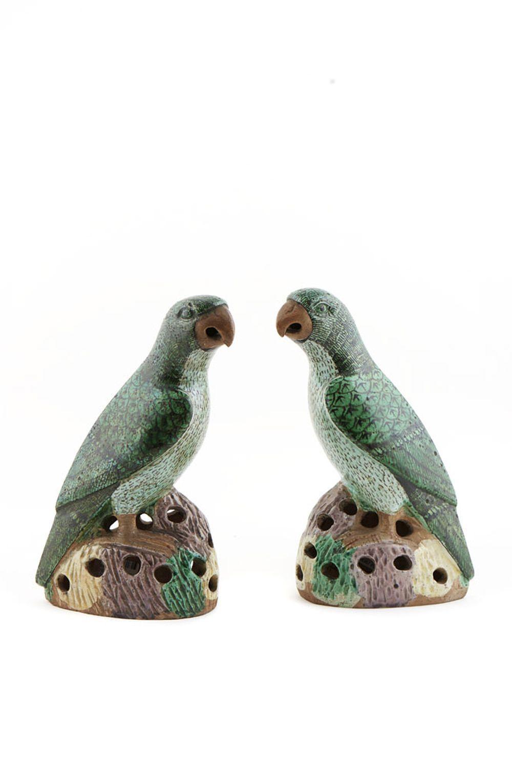 Par de papagaios em porcelana chinesa (2)