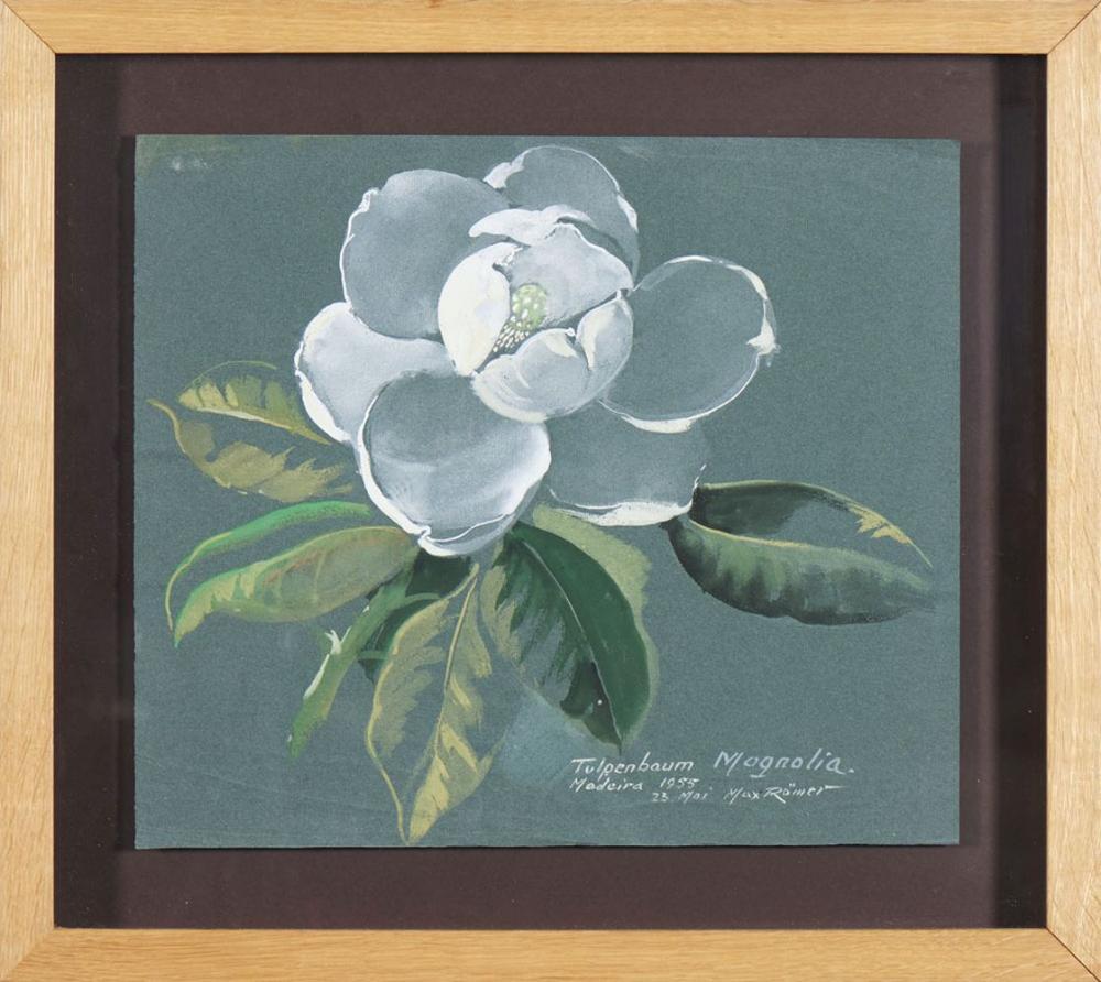 MAX RÖMER, Guache s/ papel, 37 x 43 cm.