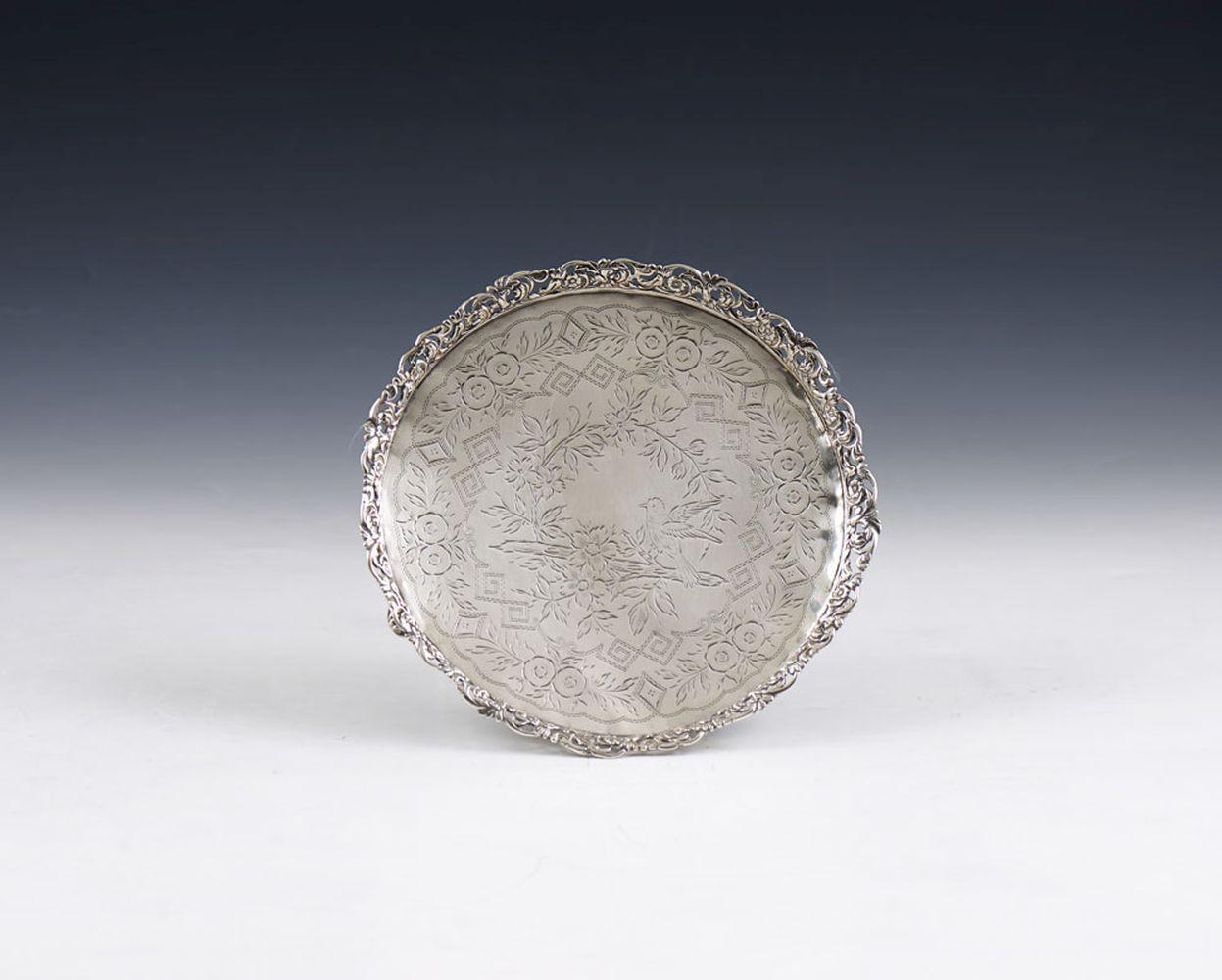 Salva de gradinha em prata, Javali, 833%, P.174g