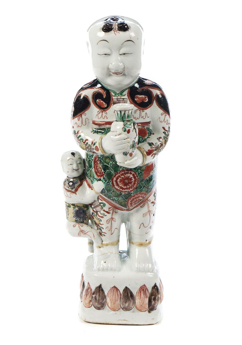 """""""Laughing boy"""" em porcelana chinesa"""