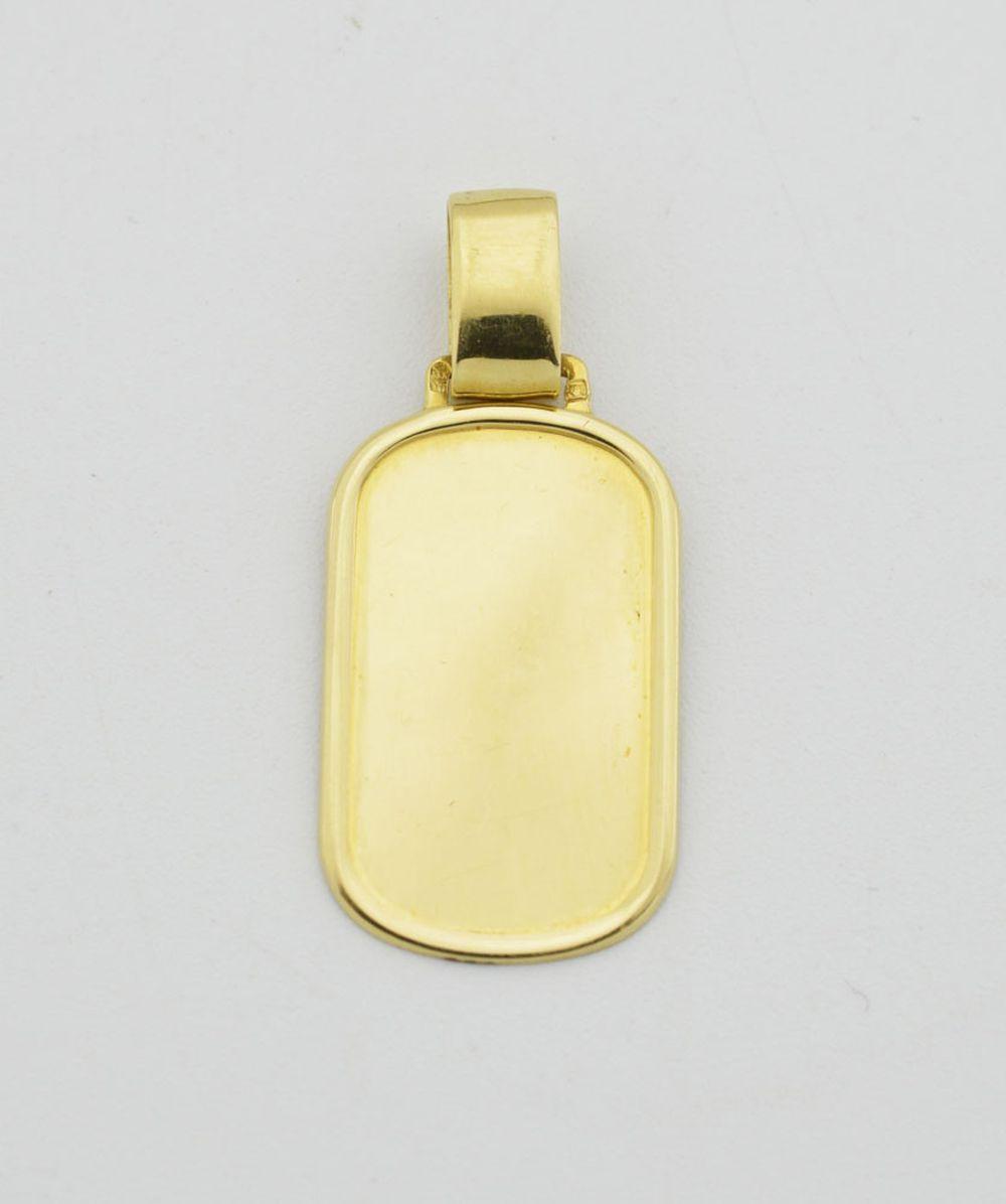 Pendente chapa em ouro, 800%, P: 3,2 g.