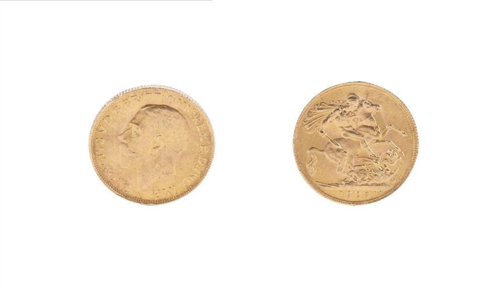 Libra em ouro, Rei Jorge V, 1925