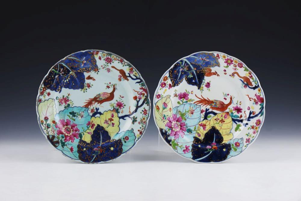 Par de pratos em porcelana chinesa (2)