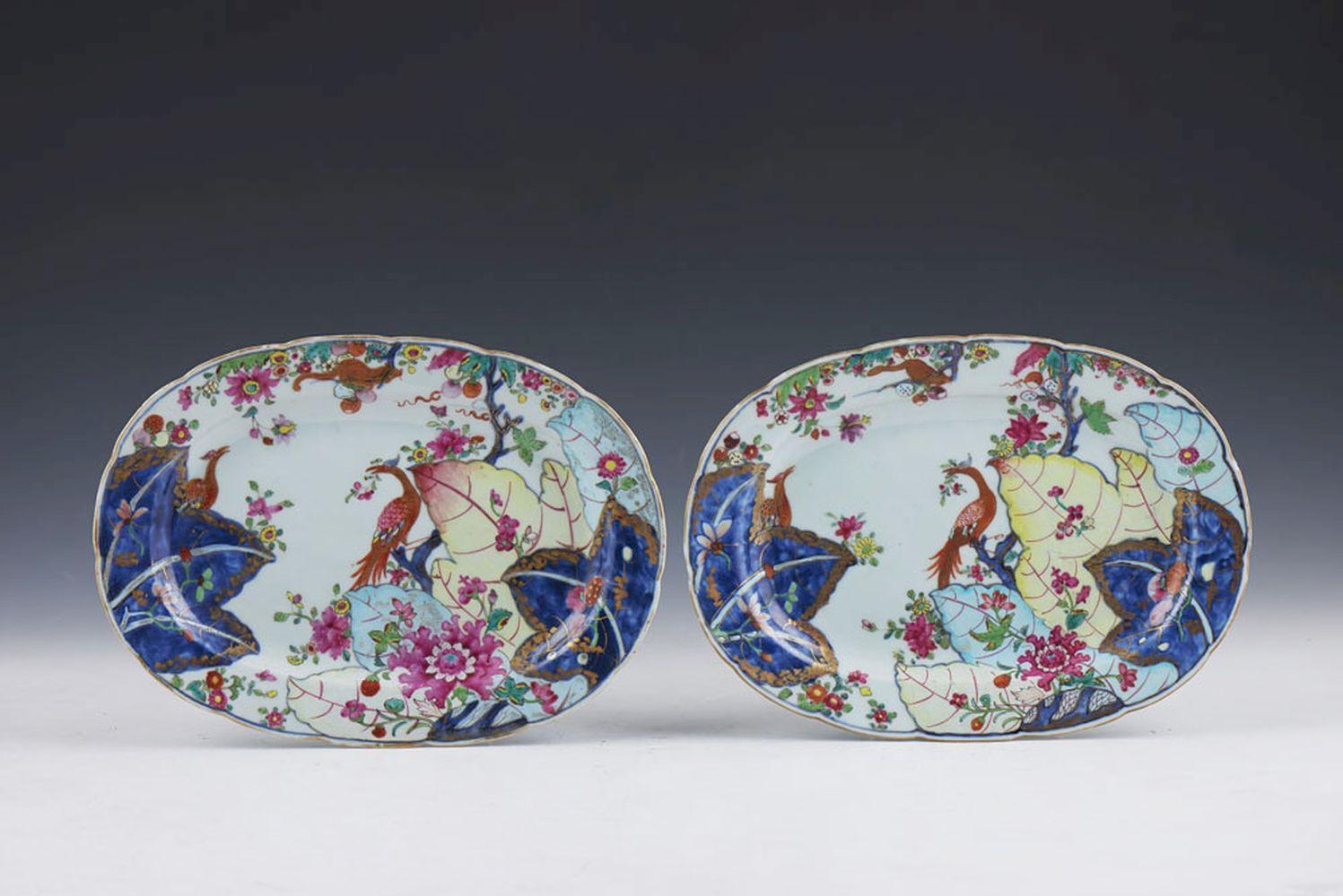 Par de travessas em porcelana chinesa (2)