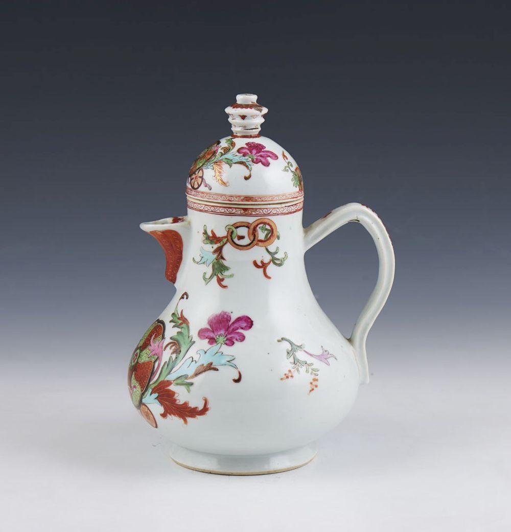Jarro com tampa em porcelana chinesa