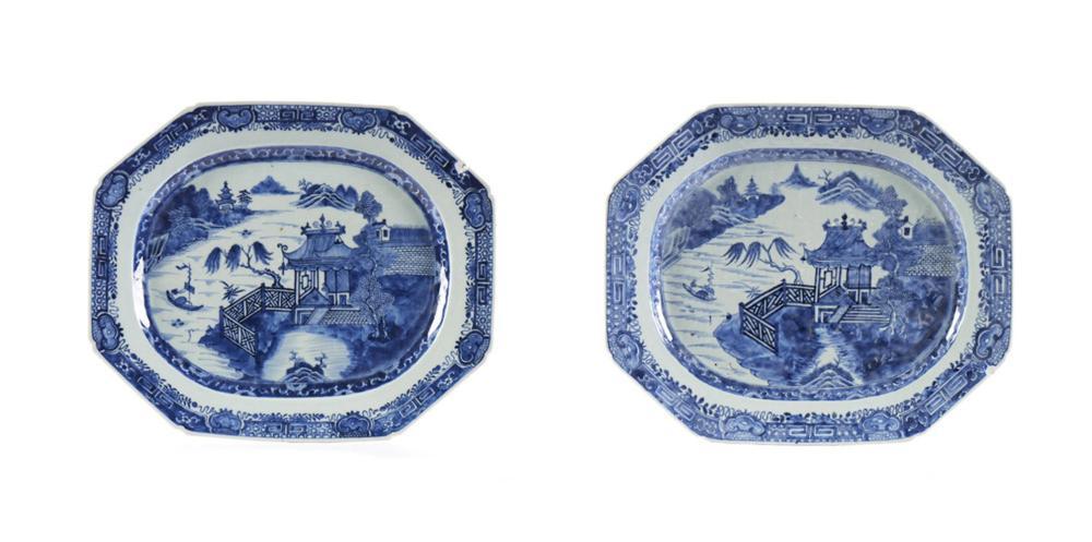 Par de travessas em porcelana chinesa da CI